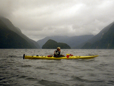 Kayaking in Doubtful Sound, New Zealand